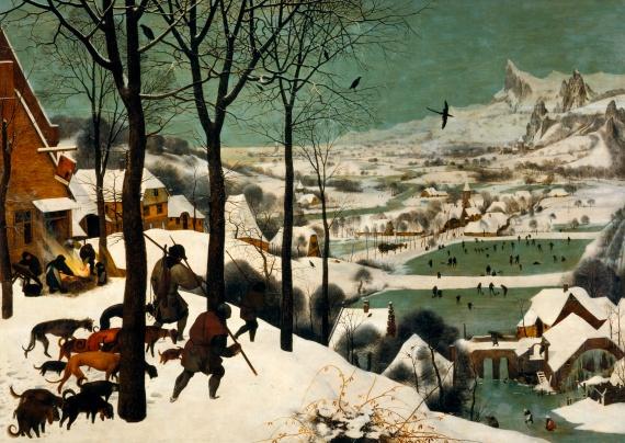 Питер Брейгель, «Охотники на снегу»